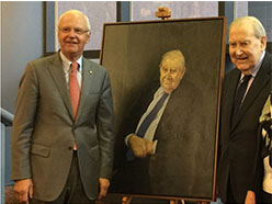 Unveiling of Peter O'Callaghan QC portrait
