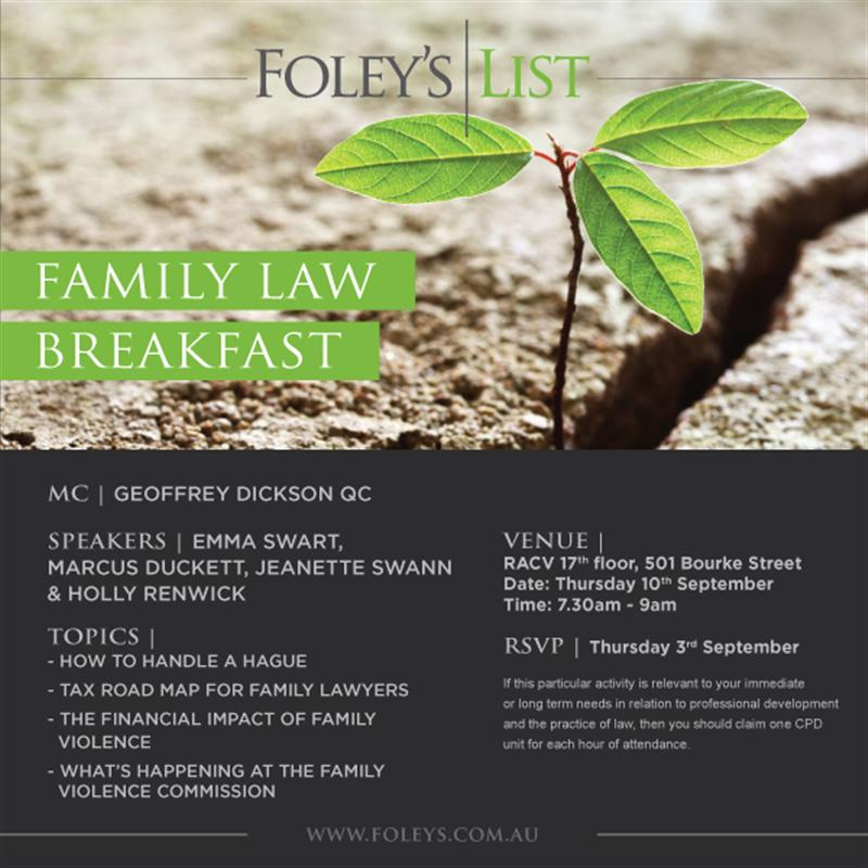 Family Law Breakfast 2015